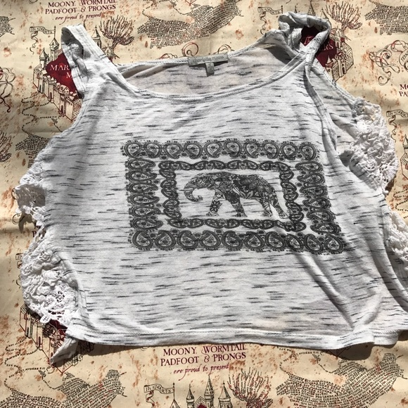 Charlotte Russe Tops - Charlotte Russe Elephant Paisley Crop top Small